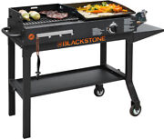 Blackstone Griddle And Charcoal Grill Combo Flat Top Gas Hibachi Station Bbq New