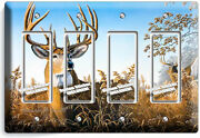 Whitetail Deer Buck Antlers 4 Gfci Light Switch Wall Plate Cabin Room Home Decor