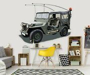 3d Military Vehicle A225 Car Wallpaper Mural Poster Transport Wall Stickers Zoe
