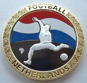 South Africa 2010 Fifa World Cup Netherlands Bu Proof Medal 40mm 26.7g B9