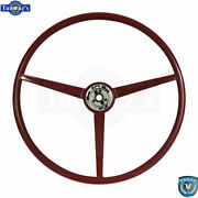 1966 Ford Mustang Correct 15 Reproduction O.e. Style Steering Wheel - Red