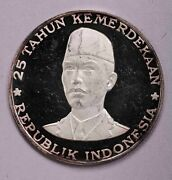 1970 Indonesia 1000rupiah Silver Impaired Proof
