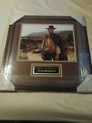 Clint Eastwood Signed 11x14 Photo In Frame Psa/dna Cert Good The Bad The Ugly