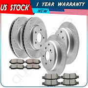 Front + Rear Brake Pads And Rotors Discs For Honda Odyssey Lx 3.5l 2005-2010