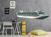 3d Large Sailing Ship A72 Car Wallpaper Mural Poster Transport Wall Stickers Zoe