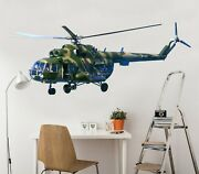 3d Military Helicopte A07 Car Wallpaper Mural Poster Transport Wall Stickers Zoe