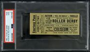 1960-70 Roller Derby Houston Vs Hollywood Hell On Wheels Pass Psa Good 2