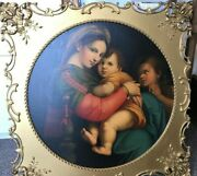 Madonna With The Child And Young St. John, Oil On Canvas