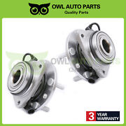Set Of 2 Front Wheel Bearing And Hub For 1997-2005 S10 Gmc Blazer Jimmy 4wd 513124