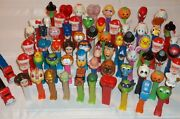 Huge Lot Of Over 65 Pez Dispensers Star Wars Mickey Minnie Snoopy Garfield S8