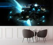 3d Spaceship Earth A07 Transport Wallpaper Mural Self-adhesive Removable Zoe