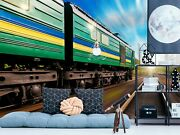 3d Green Leather Train A46 Transport Wallpaper Mural Self-adhesive Removable Zo
