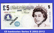 Real Bank Of England £5 Five Pound Banknotes Series E 2004