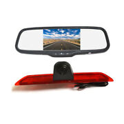 Reverse Backup Camera + Clip-on Rear View Mirror Monitor For Ford Transit Van