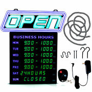 Led Open Sign With Business Hours Andndash Stand Out With 1000andrsquos Color Combos To Match