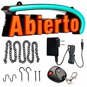 Super Bright Led Abierto Sign - Stand Out With 64 Color Combos To Match Your Bra