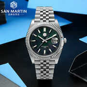 San Martin Sn058g Mop Automatic Dress Men Watches Stainless Steel Classic Watch