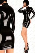 906 Latex Rubber Gummi Dress One Piece Fitted Customized Skirt Sexy Catsuit .7mm