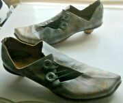 Cydwoq Vintage Art To Wear Marbled Kitten Heeled Comfy Shoes 38 1/2 38.5