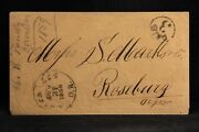 Oregon Corvallis 1859 Stampless Cover, Early Statehood Use, Circled Paid 3