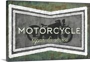 Motorcycle Canvas Wall Art Print Motorcycle Home Decor