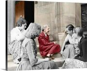 Lise Meitner With Students 1959 Canvas Wall Art Print Home Decor
