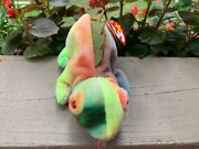 Ty Beanie Babies Original Retired Iggy Tie-dyed Wrong Color Bright Colors Pe