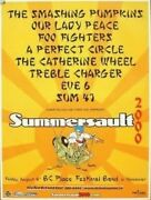 Smashing Pumpkins Foo Fighters A Perfect Circle Summersault 2000 Concert Poster