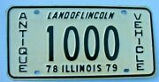 1978 1979 Antique Vehicle License Plate 1000 Il Historic Horseless Carriage