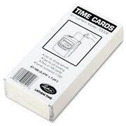 Lathem 7000e Double-sided Time Cards - 100 Sheet[s] - White - 100 / Pack