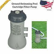 Swimming Pool Cartridge Pump Filter System Krystal Clear Double Insulated Pumps