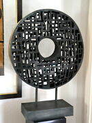 Abstract Bronze Plastic Circular Representation With Artistand039s Signature