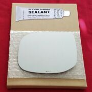 Mirror Glass + Silicone Adhesive For 09-14 Acura Tsx Driver Side Replacement-hea