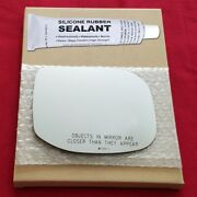 Mirror Glass + Silicone Adhesive For 09-14 Acura Tsx Passenger Side Replacement-