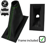 Green Stitch Leather E Brake Boot+plastic Frame Fits Triumph Herald And Vitesse