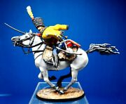 Historical Miniatures Russia 54mm Napoleonic French Hussar Bugler Charging 1801