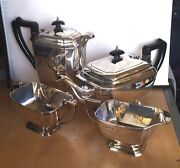 Lovely 1975 Solid Silver 4-piece Tea Service Hallmarked Sheffield Offers