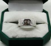 Very Heavy Lovely 18ct White Gold Band Ring Set With Various Shaped Diamonds