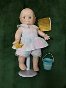 """Danbury Mint Kewpie """"a Gift From The Sea"""" Porcelain Doll With Stand"""