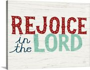 Holiday On Wheels Rejoice In The Lord V2 Canvas Wall Art Print Christmas Home