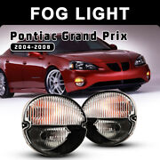 For 04-08 Pontiac Grand Prix Fog Lights Assembly Bumper Front Lamps Clear 1 Pair