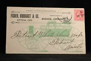 Indiana Attica 1896 Fisher Arbogast Horse Buggy Allover Advertising Cover