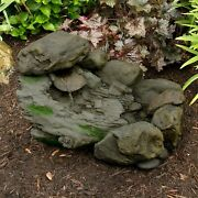 Outdoor Cascading Stone Rock Fountain - Pump Included - 93 Gpm 23 X 14 Inch