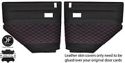 Pink Diamond Stitch 2x Rear Door Card Covers Fits Land Rover Defender 90 110
