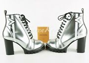 Authentic Louis Vuitton Spaceship Ankle Boot Shoes Metallic Silver 36 / 6 Us New