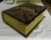 Antique Family Pictorial Holy Bible 1886 Peerless Edition