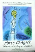 Marc Chagall Original Lithograph Poster Jacobs Ladder Mourlot Limited 1977
