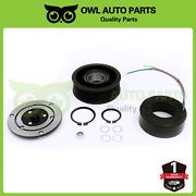 Ac A/c Compressor Coil Clutch Assembly Kit Replacement For 02-06 Honda Cr-v 2.4l