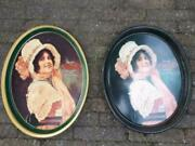 Vintage 1972 Reproduction Coca-cola 1914 Betty Girl Metal Oval Serving Tray