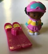 Fisher Price Little People Advent Christmas Calendar New Girl With Ski's Aa